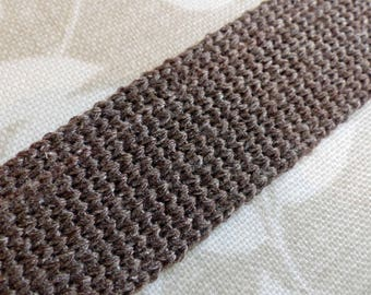 Cotton Webbing - Dark Taupe - 1m length x 30mm wide