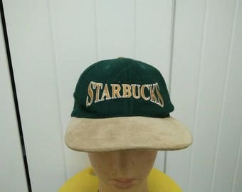 Rare Vintage STARBUCKS Embroidered Cap Hat Free size fit all