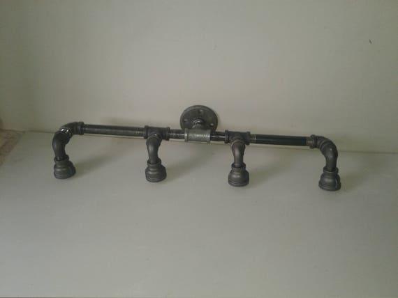 on sale 583f9 7f7cd Industrial Vanity Light Fixture- Steampunk Pipe Lighting