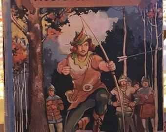 Robin Hood Vintage Antique Hardcover 1940 Henry Gilbert World Syndicate Publishing