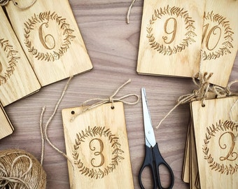 Freestanding Table Numbers, Wedding Table Numbers, Rustic Table numbers, Wooden Table Numbers, Wood Table Numbers, Custom Table Numbers 03TN