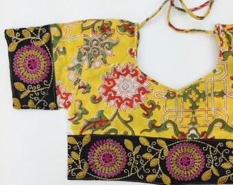 7 Years Skirt SET, Frida Block Print Crop Top and Maxi Skirt, Hippie Toddler Skirt, Organic Kids Clothing, Toddler Crop Set