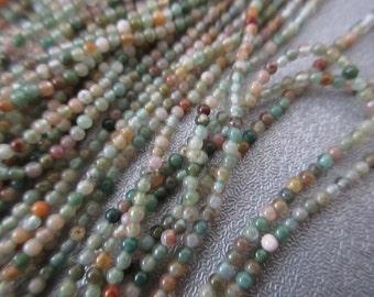 "Fancy Jasper Round Beads 2mm 16"""