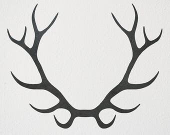 Deer Antlers Metal Art