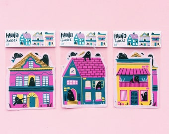 Haunted Houses Sticker Pack