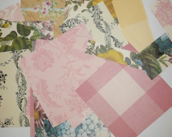 Anna Griffin Paper Kit Scrapbook Paper Cardmaking Paper Kit Vintage Style Papers