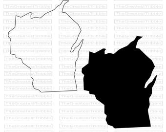 Wisconsin State Map SVG PNG JPG Vector Graphic Clip Art Wisconsin State Outline Wisconsin Silhouette