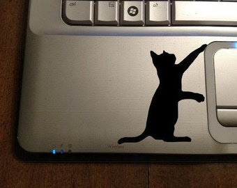 Cat Decal Sticker, Laptop Sticker, Black Cat Decal, Car Window Wall Sticker