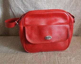 Vintage Red Carry-On Bag
