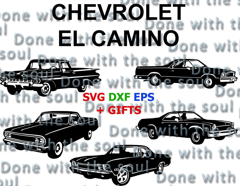 Car body sticker design eps - Chevrolet El Camino El Camino Classic Car Muscle Car Chevy El Camino Car Vector Car Cutting Car Silhouette Car Svg