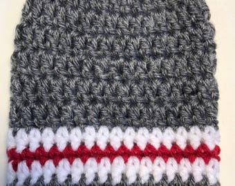 Sock Monkey Inspired Stripes = Cast Cozy/Cast Sock/Toe Cover = Ready to ship.