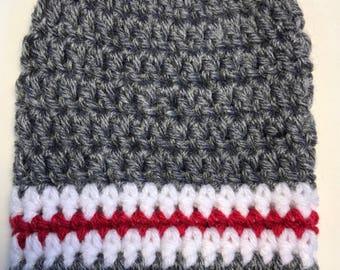 Sock Monkey Inspired Stripes = Cast Sock = Ready to ship.