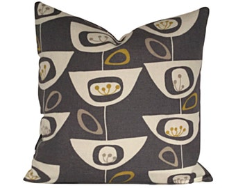 Mid Century 50s Style Cushion Cover  Modern Throw Pillow, Accent Pillow , Mustard Yellow Pillow Cover Various Sizes