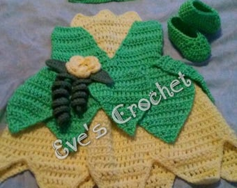Baby Tianna crochet costume