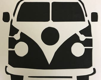 VW Bus Stencil Made from 4 Ply Mat Board