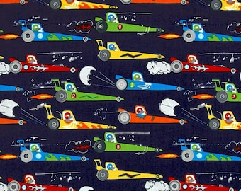Race Cars Sheet - fitted/crib/changing pad/cars/drag strip