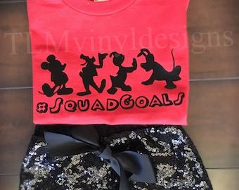 Squad goals// #squadgoals //Mickey Mouse. Disney Vacation shirt // Disney World// Disneyland // matching shirts