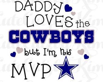 Daddy's MVP Dallas Cowboys svg, dxf, jpg, png, cricut file, silhouette file, cutting file