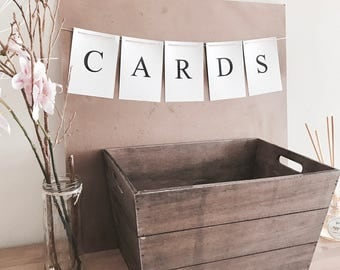 CARDS BUNTING for Weddings, Engagements & Special Occasions.