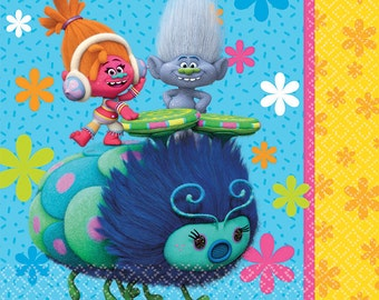 Trolls Lunch Napkins [16ct] Birthday Party Tableware Dinner Buffet Supplies