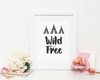 Wild & Free (boy) Wall Print ***DIGITAL FILE***