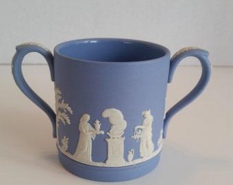 Wedgwood Blue Jasperware Two-Handled Loving Cup