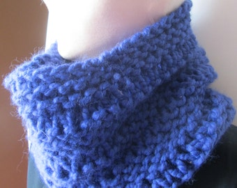 Blue Chunky Knit Cowl/Knit Cowl/Blue Cowl/Knitted Cowl/Gift for her/Gift for him/Crochet Cowl/Winter Cowl/Warm Cowl/Warm knit cowl