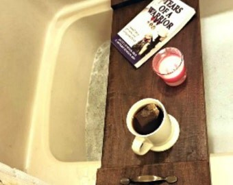 wooden farmhouse bath tray