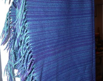 Throw / Plaid - Viola Gråsten - Snark - Retro - Sweden - Design - Mid Century - Wool - Fringes