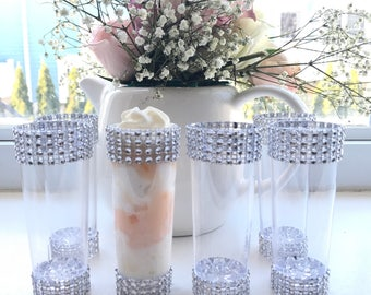 Bling Mini Cordial Glasses Wedding Candy Buffet Birthday  Set of 12