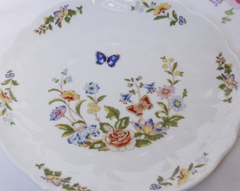 """A truly delightful  Aynsley  serving plate / cake plate  called """"Cottage Garden"""" :perfect as a special gift."""