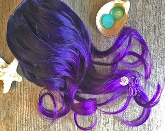 Purple Hair Extensions, Hair extensions clip in, Ombre Hair, Bright hair , Pink Hair, Magenta Hair, Mermaid Hair, Single Clips, Human Hair
