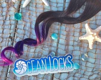 """Ombre Hair, IN STOCK, 22"""" Long, Hair Extensions Clip In, Purple Hair, Magenta Hair, Brown Hair, Dip Dye Hair, Mermaid Hair, Ocean Locks"""