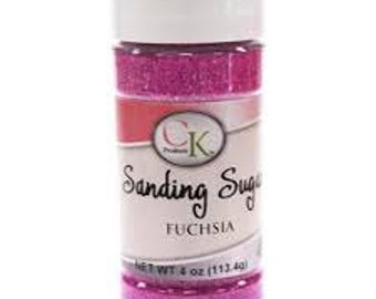 Sanding Sugar Fuschia - 4 oz