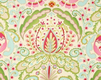 Dena Designs Kumari Garden Teja in Pink Multi Fabric - Summer Floral Fabric - Sale Fabric by the Yard - Boutique Clothing Decor Quilt Fabric