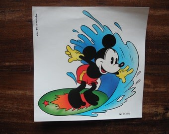 Vintage retro Mickey mouse decal water transfer decoration sticker