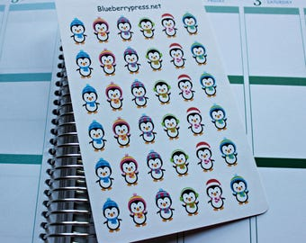 Penguin Stickers | Planner Stickers