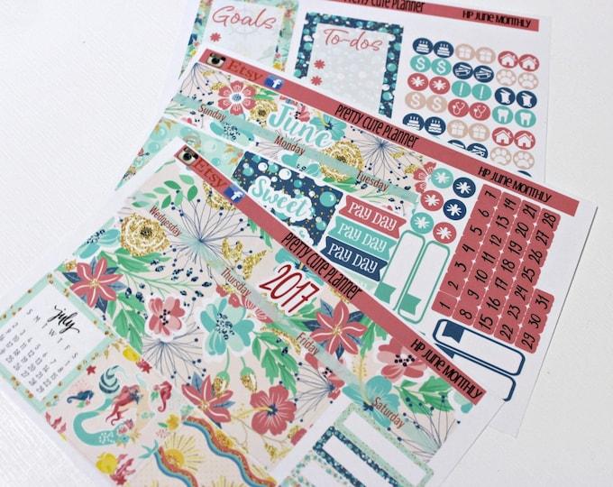 Happy Planner June Monthly - Planner Stickers - Happy Planner Stickers - June Planner stickers - Monthly Planner stickers - Monthly View