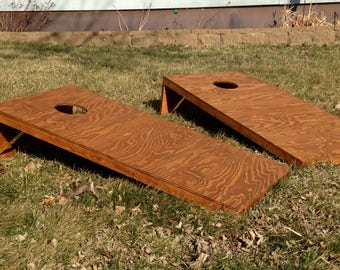Homemade Regulation Cornhole Boards