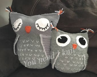 Handmade owl pillows
