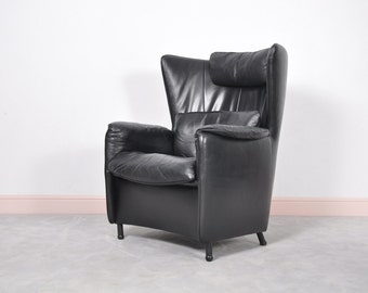 Vintage Black DS-23 Wingback Lounge Chair by Franz Schulte for De Sede