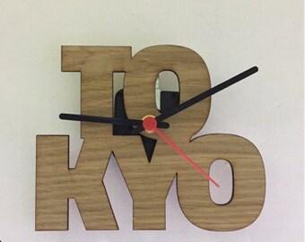 TOKYO wooden wall clock