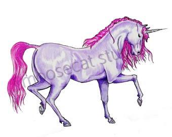 Purple Unicorn Print