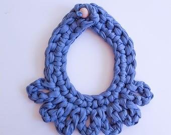 Unic handmade fabric necklace