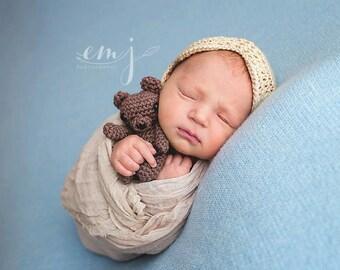 Teddy Bear Photo Prop - Stuffed Teddy Bear - Newborn Teddy Bear Prop - Tiny Teddy Bear - Small Bear Prop - Stuffed Bear Prop - Newborn Props