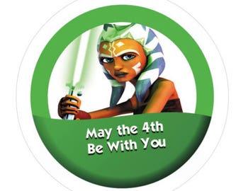 May the 4th Be With You 3' Pin-Ahsoka Tano