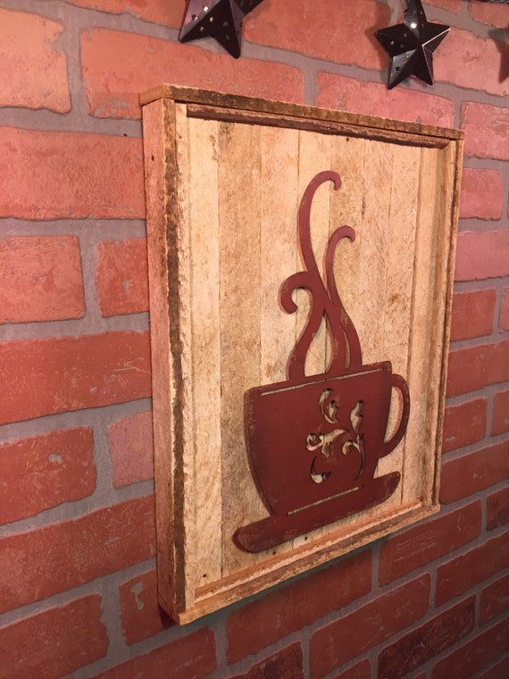 Rustic Coffee Cup Wall Decor