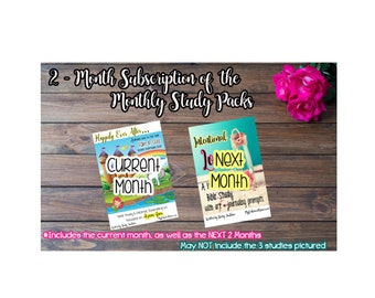 2 Month Subscription For the Monthly Bible Study/Journaling Kits/Planner