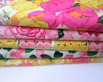 Fat Quarter/Half Yard/One Yard Bundle of Flower Market Bundle by Martha Negley