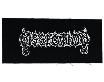 Dissection Black Metal Band Patch